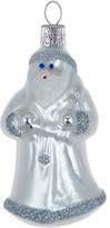 Christmas Shop Winter Santa White Ornament