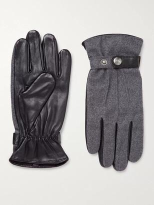 Perry Ellis Mens Suede Gloves W//Rib Knit