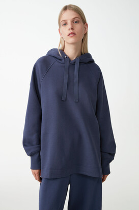 Cos Organic Cotton Hoodie With Side Slits