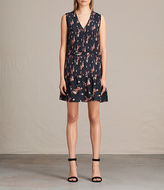 AllSaints Lina Kirsch Silk Dress