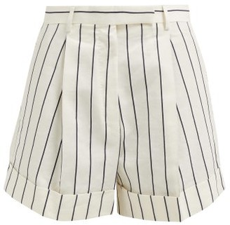 ODYSSEE Jeanne Striped Cotton Shorts - Cream