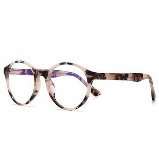 SUNGAIT Vintage Round Blue Light Blocking Eyewear Anti-Blue Glasses (Amber Frame)-SGT007HPK
