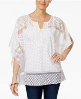 Charter Club Crochet Mesh Top, Created for Macy's