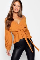 Thumbnail for your product : boohoo Petite Off The Shoulder Blouse