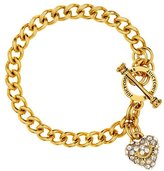 Juicy Couture Girls Mini Pave Heart Banner Bracelet