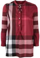 Burberry plaid tunic blouse