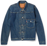 Levi's 1936 Type 1 Distressed Denim Jacket - Mid denim
