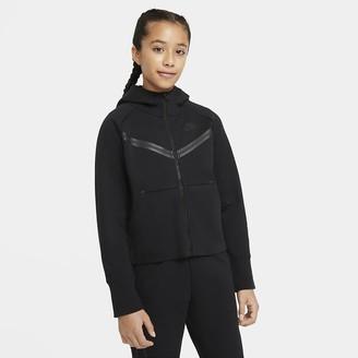 Nike Big Kids' (Girls') Full-Zip Hoodie Sportswear Tech Fleece