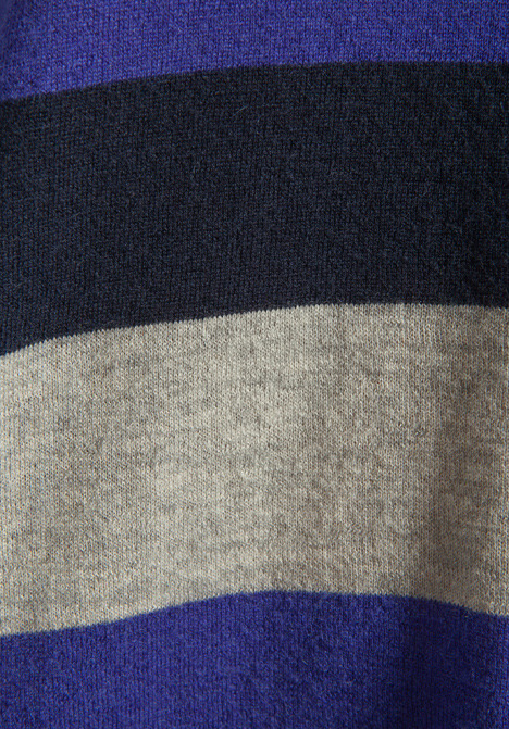 Autumn Cashmere Tissue Cashmere Stripe Block Crew