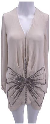 Azzaro Ecru Silk Dress for Women