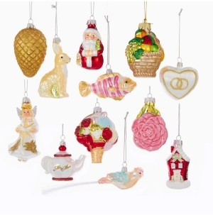 Kurt Adler 2.75-Inch-4-Inch Noble Gems Wedding Ornament Set of 12