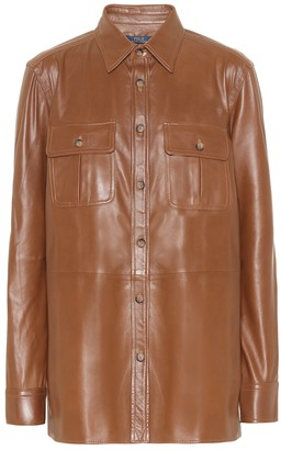 Polo Ralph Lauren Leather shirt