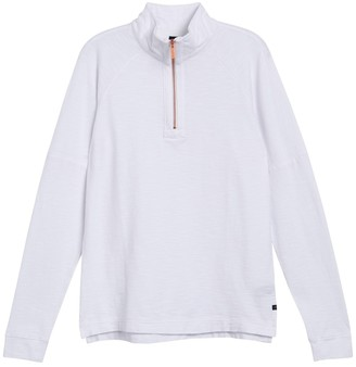 Good Man Brand Athletic Quarter Zip Slub Jersey Pullover