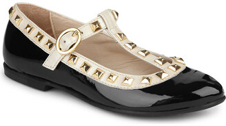 STEP2WO Studded Venetia t-bar shoes 6-11 years, Size: EUR 31 / 12.5 UK KIDS, Black patent