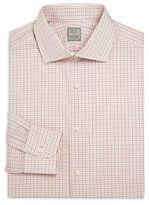 Ike Behar Long Sleeve Checked Dress Shirt