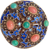 One Kings Lane Vintage 1930s Chinese Turquoise & Coral Brooch