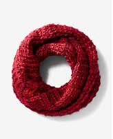 Express Red Marled Chunky Knit Snood