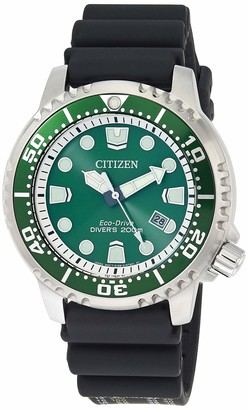 Citizen Men's Promaster Stainless Steel Japanese Automatic Diving Watch with Rubber Strap