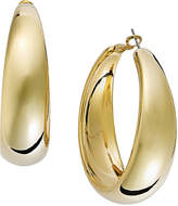 INC International Concepts Gold-Tone Wide Hoop Earrings