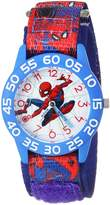Marvel Boy's 'Spider-Man' Quartz Plastic and Nylon Casual Watch, Color:Blue (Model: WMA000191)