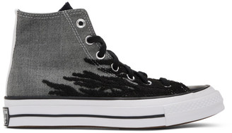 Converse Grey and Black Elevated Chuck 70 High Sneakers