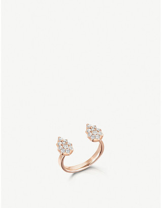 Rosegold The Alkemistry x Carbon and Hyde Stella Pear 14ct rose-gold and diamond open ring