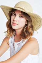 BCBGeneration Feather Chain Woven Floppy Hat - Wheat