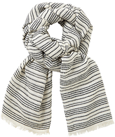 John Lewis Moroccan Stripe Scarf, Black/White