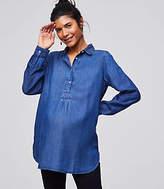 LOFT Maternity Chambray Tunic Shirt