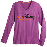 Disney runDisney Vapor® Performance Long Sleeve V-Neck Tee for Women by Champion®