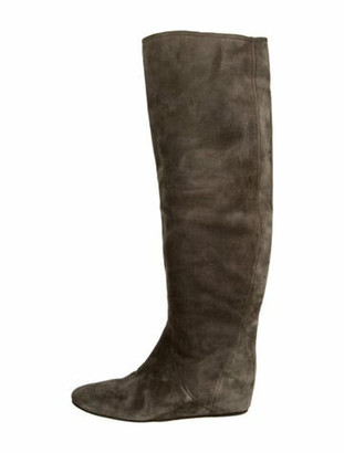 Lanvin Suede Boots Green