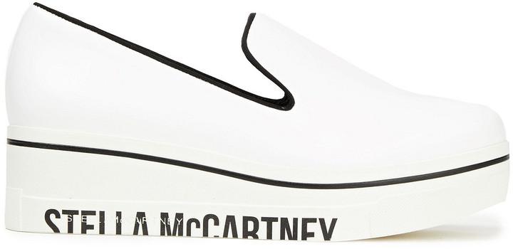 Stella McCartney Binx Faux Leather Platform Slip-on Sneakers