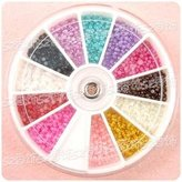 1680 X 2.0mm Nail ART TIP Half Round Baby Pearl Decoration Wheel by UniqStore-Nail Art
