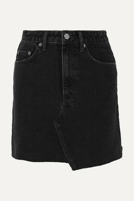 Ksubi Hi Line Mini Venom Distressed Denim Mini Skirt - Black