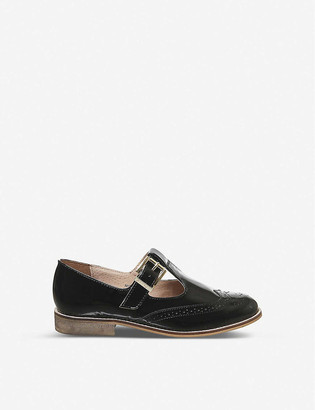 Office Fop- T-bar patent-leather flats
