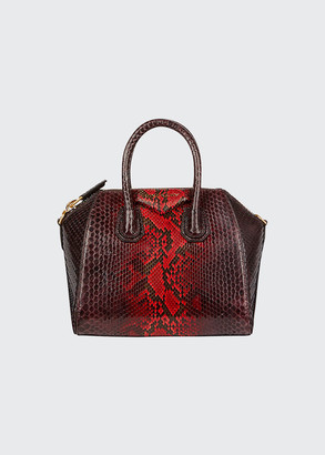 Givenchy Antigona Mini Shiny Python Satchel Bag