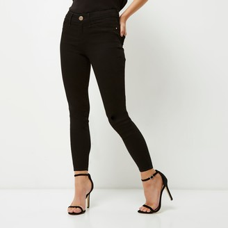 River Island Womens Petite Black Molly mid rise jeggings