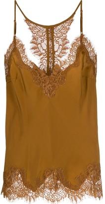 Gold Hawk Lace Trim Slip Top