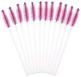 Makeup Brush , Sandistore 50pcs Disposble Eyelash Brush Mascara Wands Makeup Cosmetic Tool (Hot Pink)