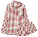 Three J NYC Josephine Checked Cotton-flannel Pajama Set - Red