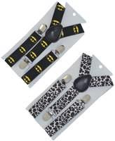 Kylin Express Set Of 2 Kids and Baby Elastic Adjustable Clip Suspender, D