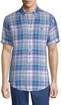 Brooks Brothers Men's Linen Freeport Plaid Sport Shirt