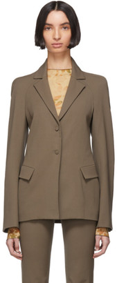 Charlotte Knowles Grey Wool Exos Blazer