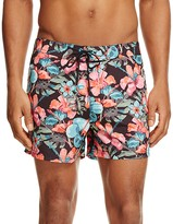 Sundek Floral Print Low Rise Board Shorts