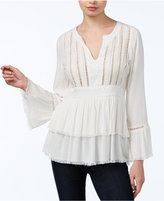 William Rast Fiona Sequined Peasant Top