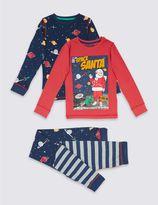 Marks and Spencer 2 Pack Printed Pyjamas (3-16 Years)