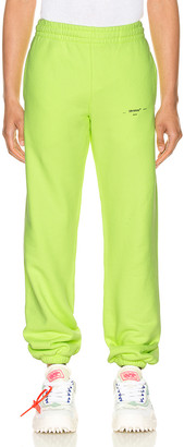 "Off-White Off W Logo"" Slim Sweatpant in Fluo Yellow 