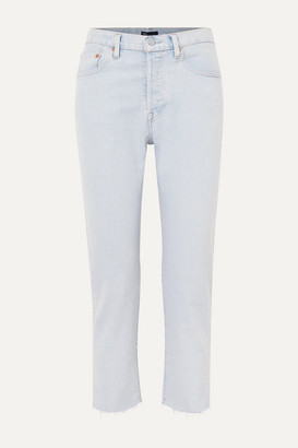 Levi's Made & Crafted 501 Crop High-rise Straight-leg Jeans - Light denim