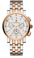 Michele Sport Sail 18 Diamond & Two-Tone Stainless Steel Chronograph Bracelet Watch