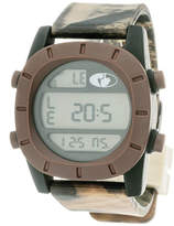 JCPenney Mossy Oak Mens Brown Bezel Camouflage Silicone Strap Sport Watch